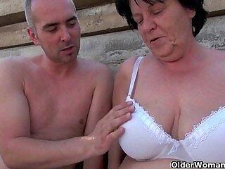 grandma-mature-mom-older woman-outdoor