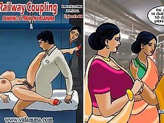 aunty-car-cartoon-couple-desi-indian
