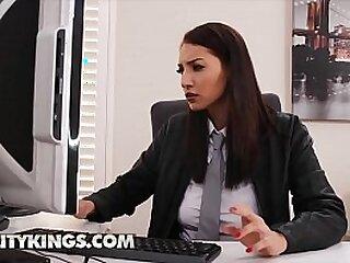 babe-brunette-bubble butt-busty-cock-dick